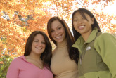 Photo of three women smiling